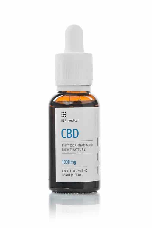USA Medical 1000mg CBD Oil Bottle