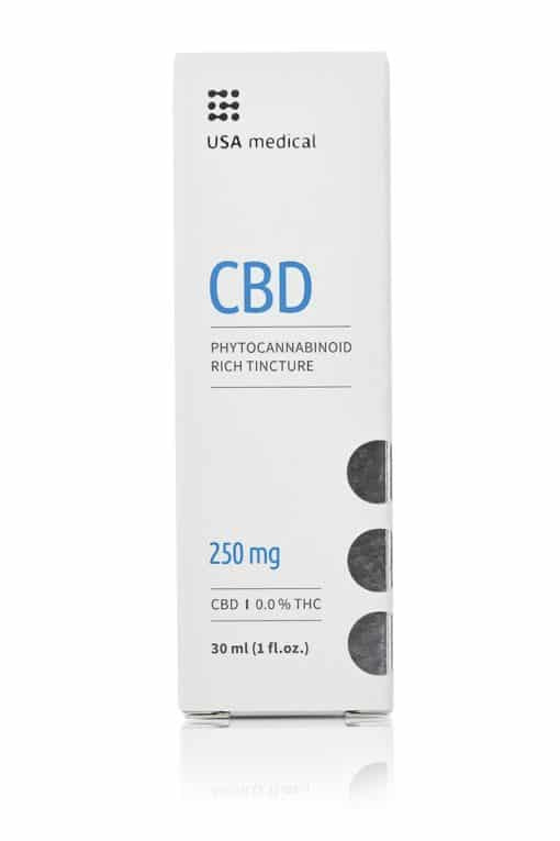 USA Medical 250mg CBD Oil Packaging