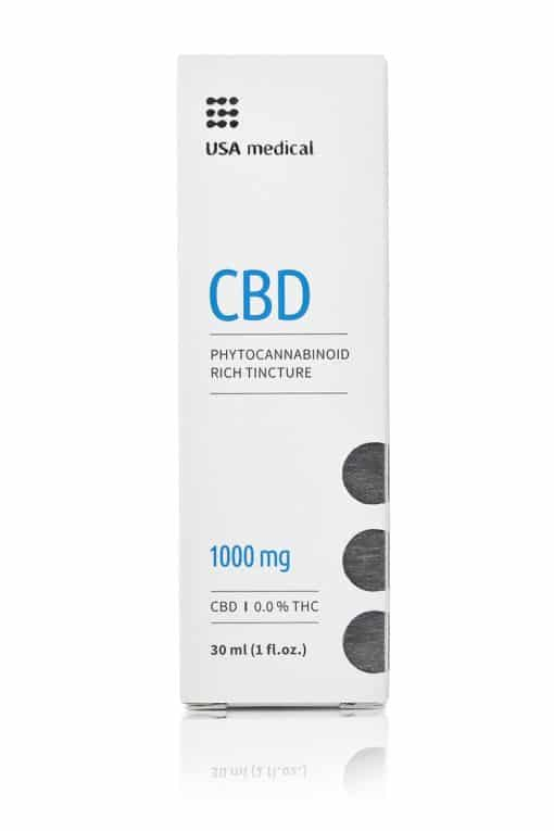 USA Medical 1000mg CBD Oil Packaging