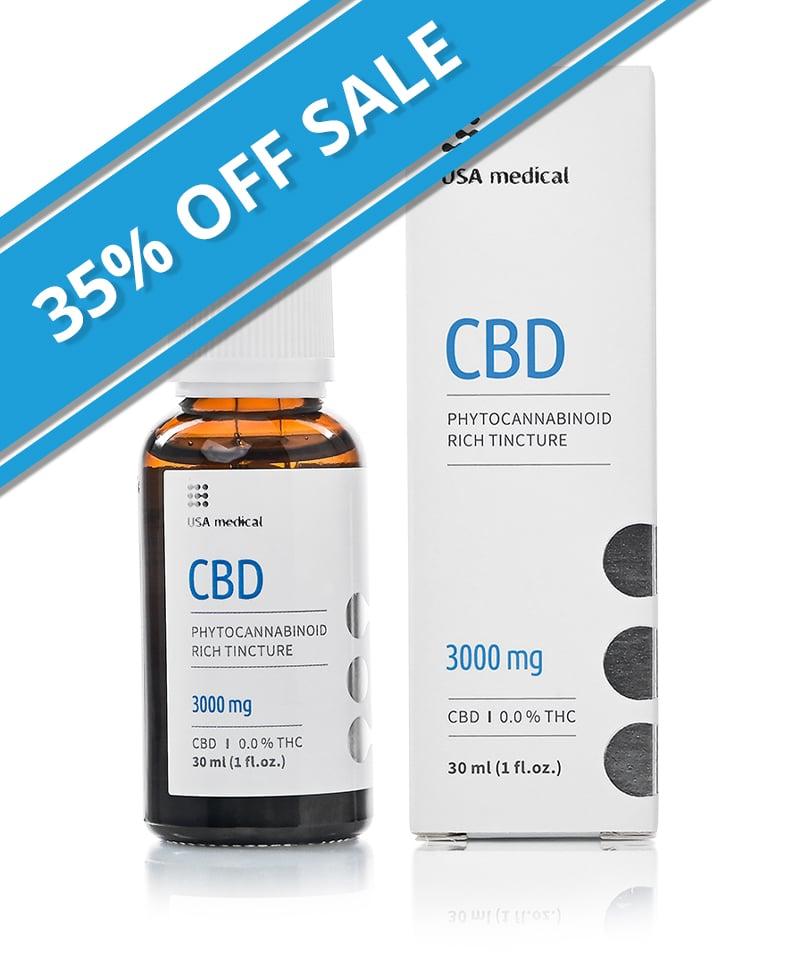 3000mg CBD Oil - USA Medical - Sale - Both
