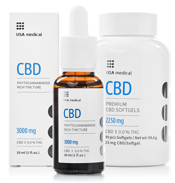 Broad-Spectrum CBD Softgels and Oil