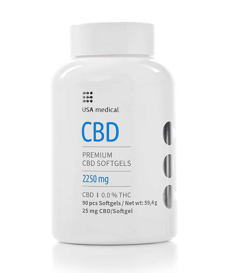 25mg CBD Capsules Softgels