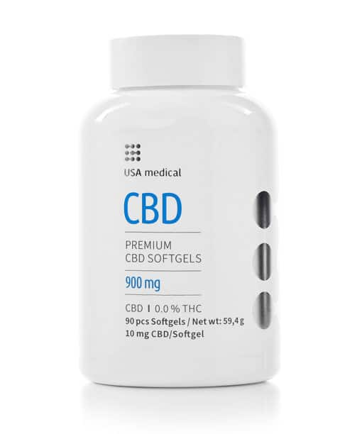 USA Medical 10mg CBD Softgels 90pcs